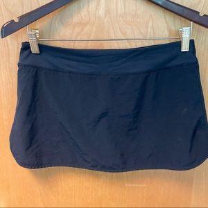 LULULEMON Run Skirt Houndstooth Shorts Black Skirt